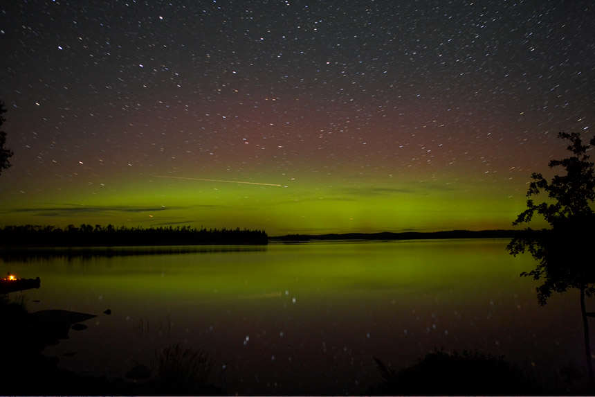 Lake Superior Aurora Borealis