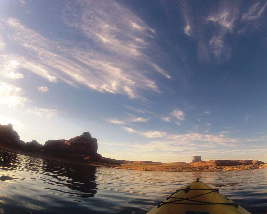 Paddling Towards the Butte
