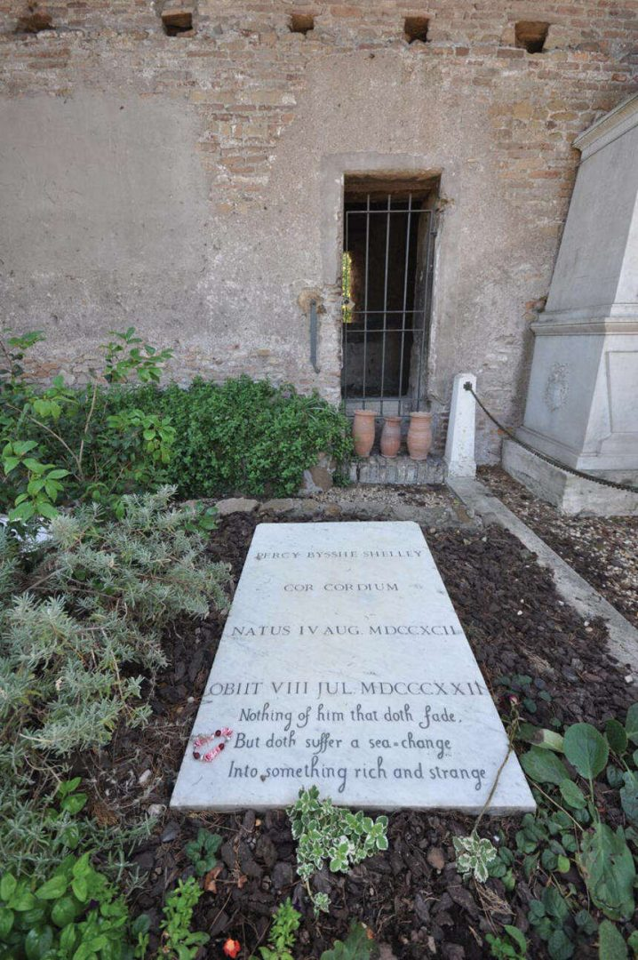 Grave of Percy Shelley