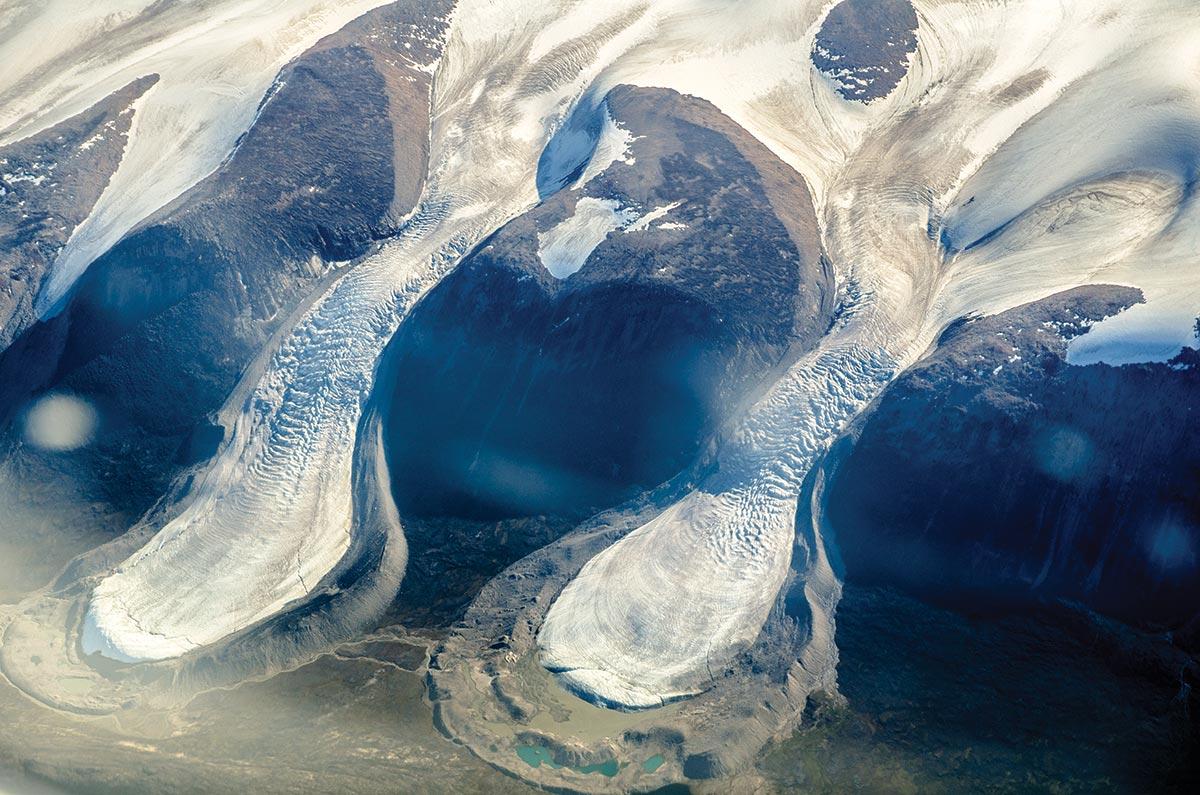 baffin island aerial photo