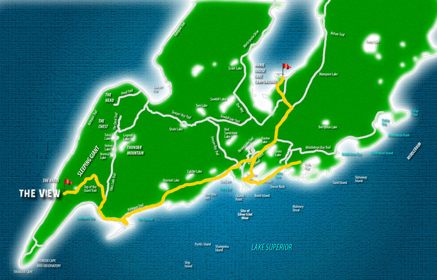 Sleeping Giant Provincial Park Map