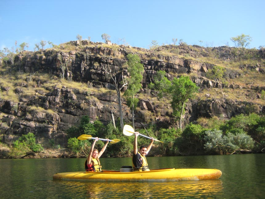 Kayaking in Katherine Gorge Australia