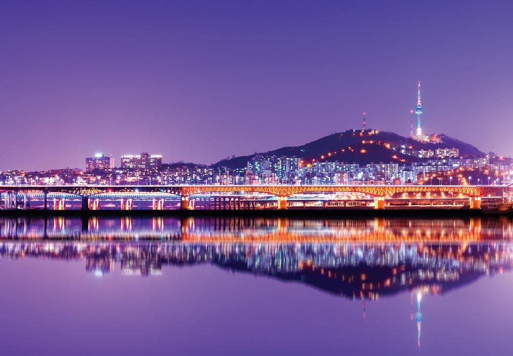 Seoul cityscape.