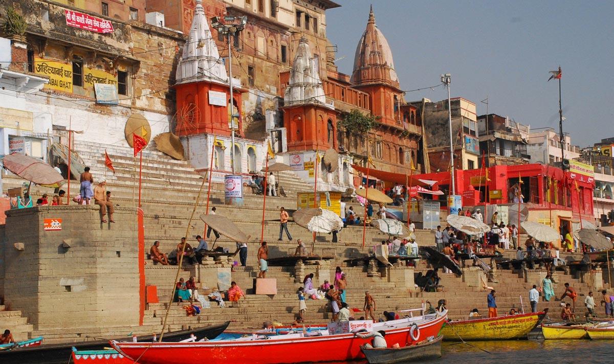 varanasi india ghat