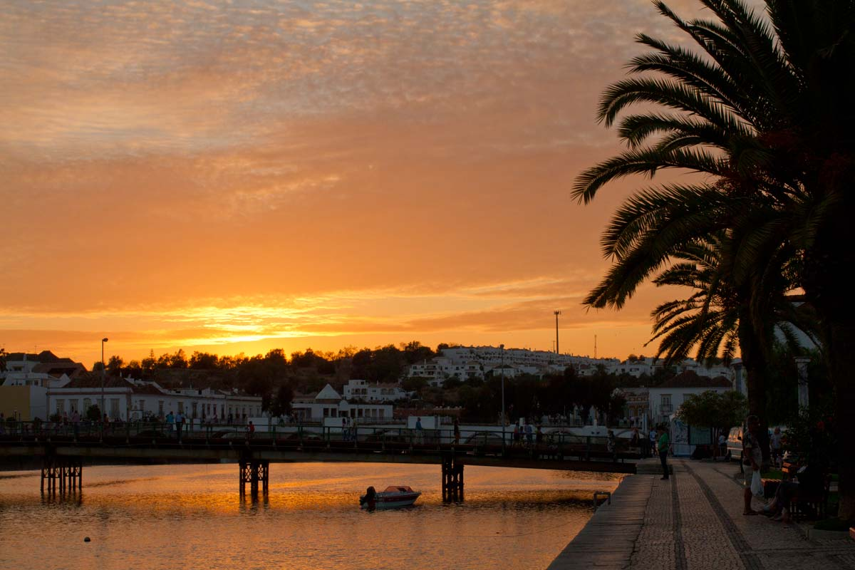 algarve portugal sunset