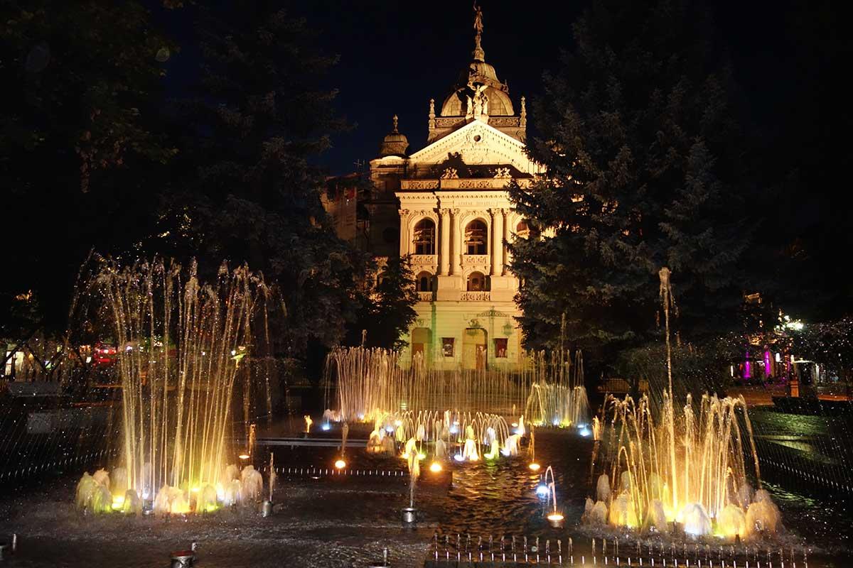Košice singing fountain
