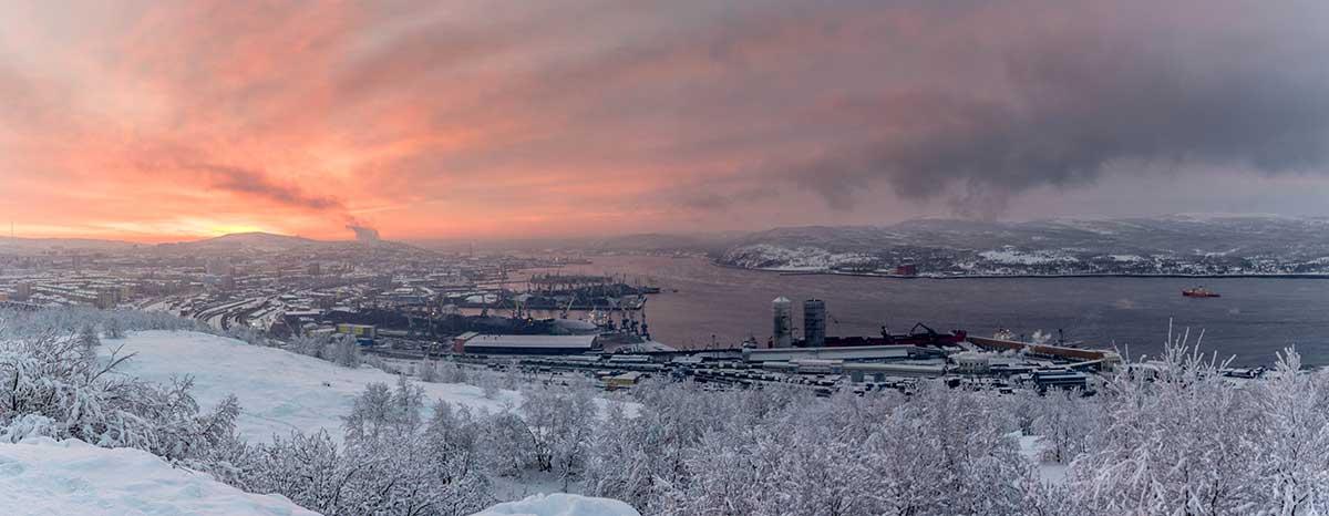 sunrise murmansk russia