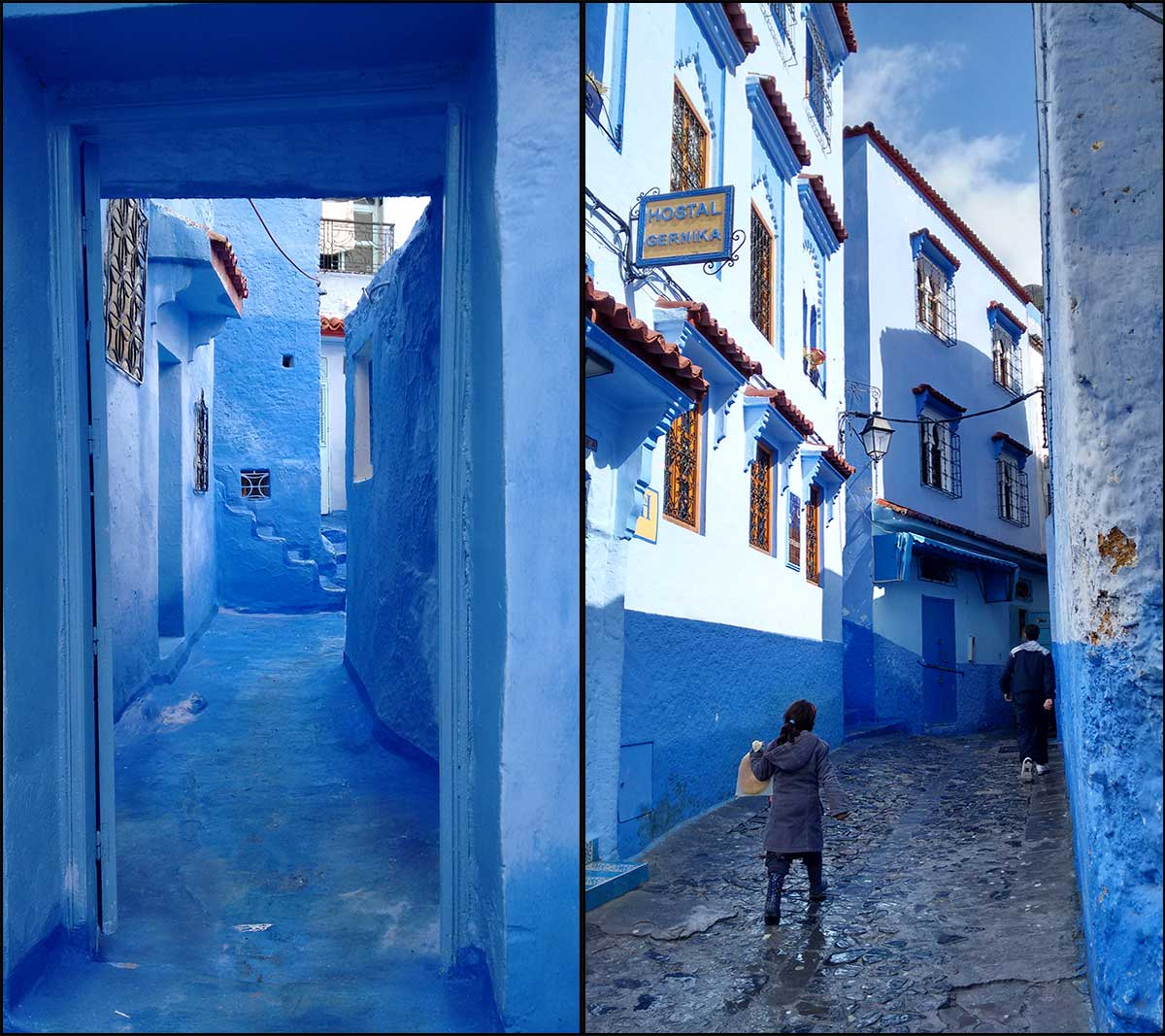 Scrubbed The Wrong Way My Moroccan Massage That Wasnt - Old town morocco entirely blue