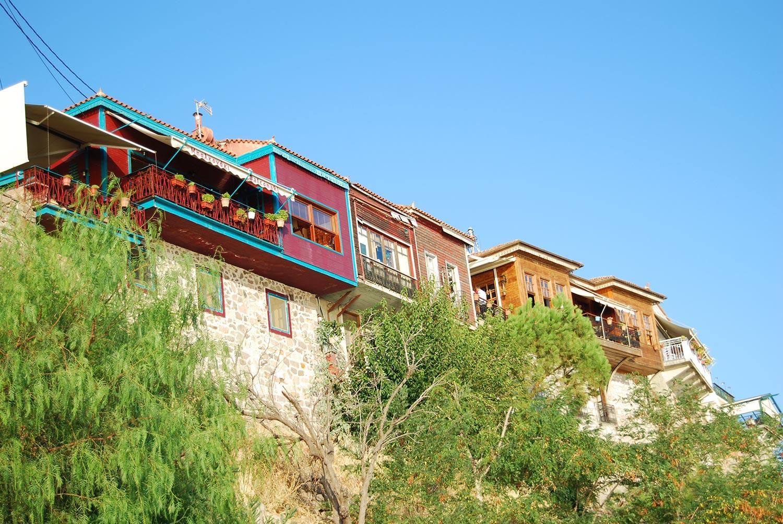 lesvos Molyvos houses