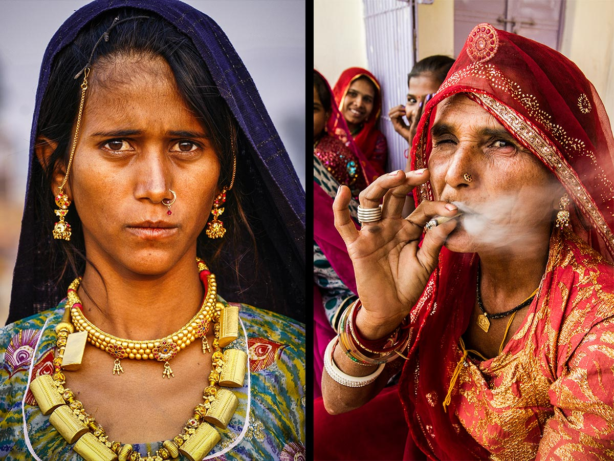 indian women portraits