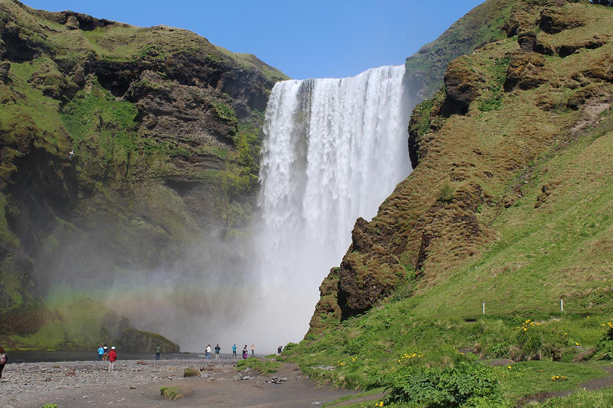 icelandic waterfall photo