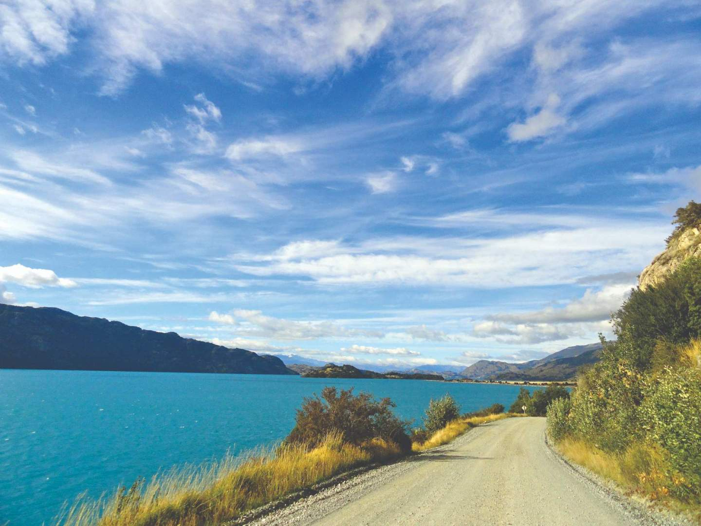 Patagonia, South America, cycling in the Andes