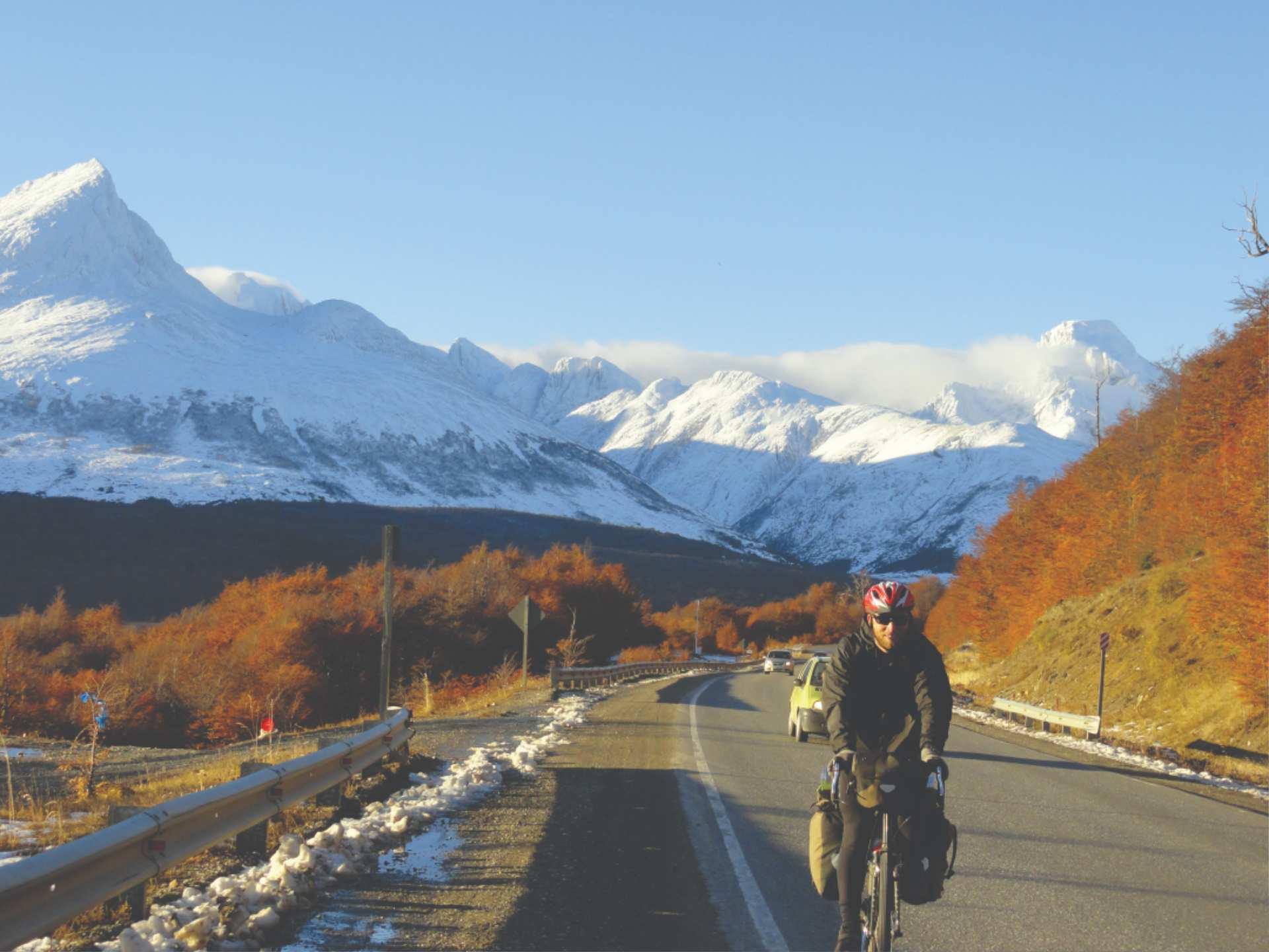 Patagonia, south america, bike or cycling trip, Andean road trip