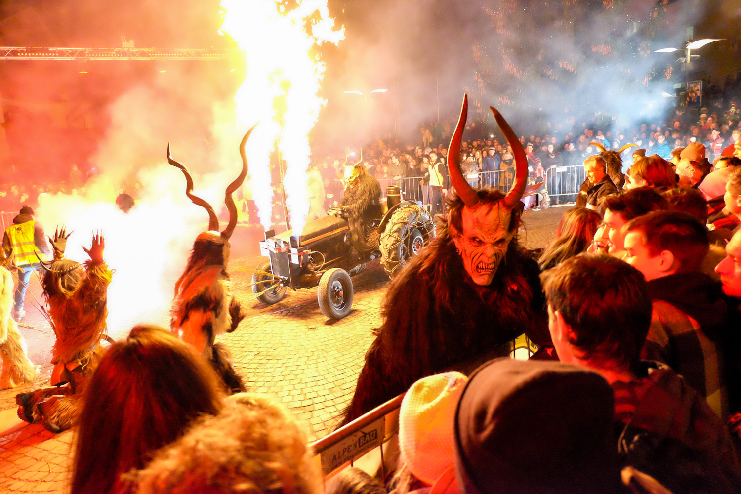 At the Krampus Parade in Natz, Italy.