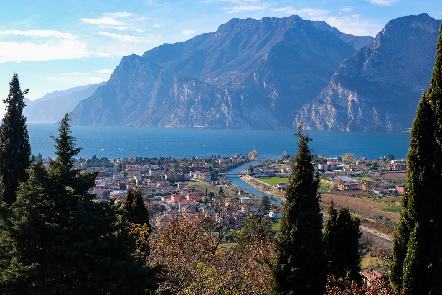 A panoramic view of Riva la Garda.