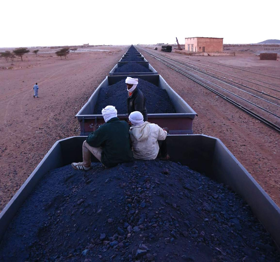 atop iron ore train Mauritania _ c Elliott