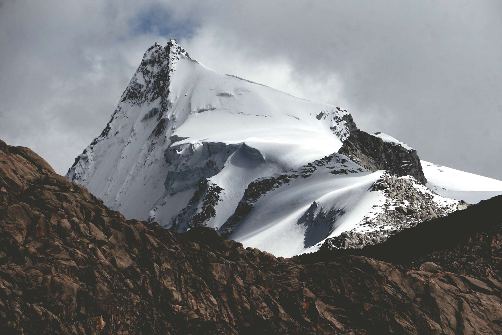 Pariaqaqa Mountain in the Andean highlands of Tanta, Peru
