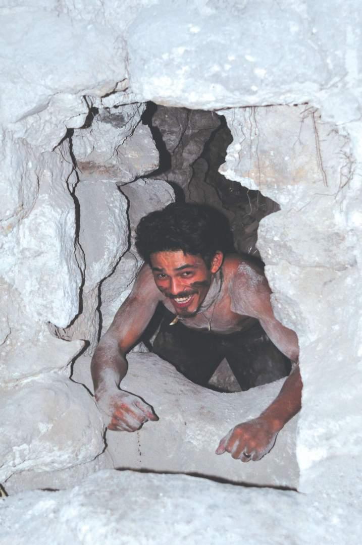 Exiting cave in Guatemala El Mirador S Bedford